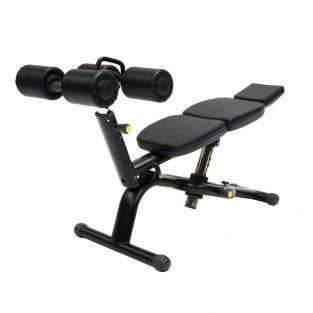 Banc crunch ajustable noir AP7007